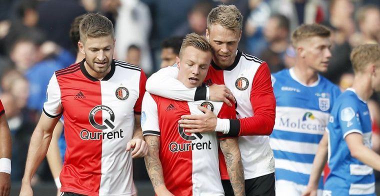 Feyenoord speelt één helft sterk en verslaat PEC Zwolle met duidelijke cijfers