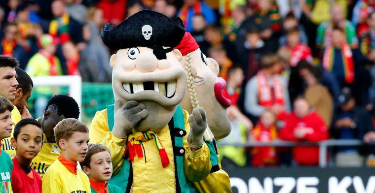 Rel in België: scheidsrechter zet 'te aanvallende' Oostende-mascotte stadion uit