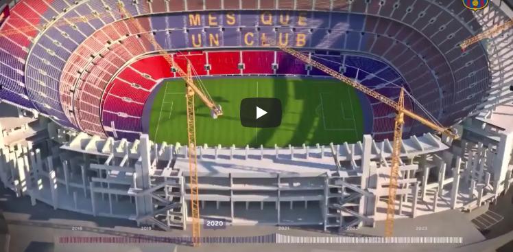 Reproducen el nuevo Camp Nou, Palau i Estadi Johan Cruyff