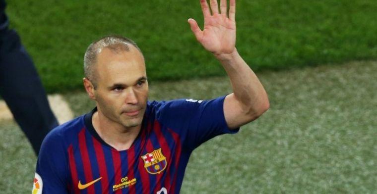 Iniesta recuerda su debut como jugador azulgrana 16 años después