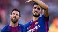 Imagen: Messi y Suárez celebran la victoria ante el Madrid brindando