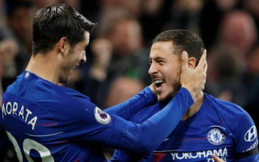 Afbeelding: Verguisde Morata en Pedro schieten ongeslagen Chelsea weer naast Liverpool