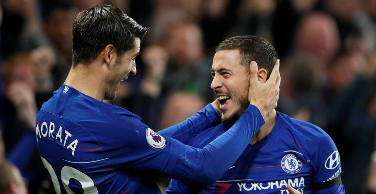Verguisde Morata en Pedro schieten ongeslagen Chelsea weer naast Liverpool