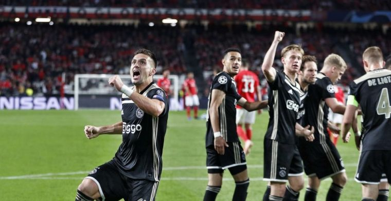 Ajax knokt zich naar punt in Lissabon: voorsprong op Benfica blijft gehandhaafd