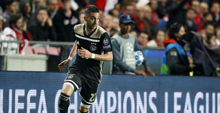 'Zou de échte top genoegen nemen met Ziyech zoals-ie tegen Benfica speelde?'