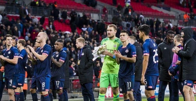 PSV haalt verhaal bij Tottenham: 'Pijnlijk dat een mooie avond is ontnomen'