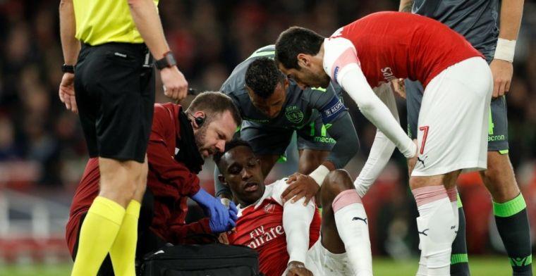 Emery aangeslagen na horrorblessure Welbeck: 'Hij heeft zijn enkel gebroken'