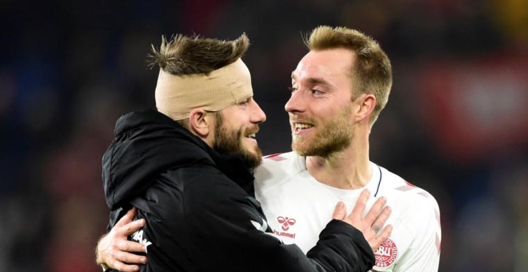 Blessure Schöne bij Deense elftal: 'Ik hoop dat het er een beetje cool uitziet'