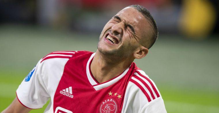 Update: Ziyech kampt met knieklachten en keert terug naar Amsterdam