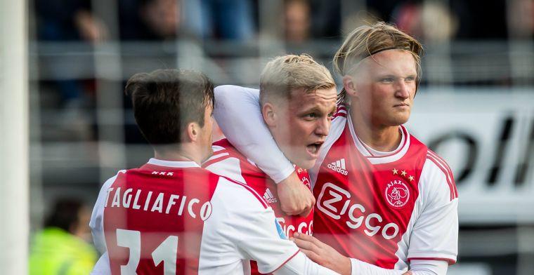 'Ik denk er niet aan, ik wil niet weg bij Ajax, omdat ik er niet klaar voor ben'