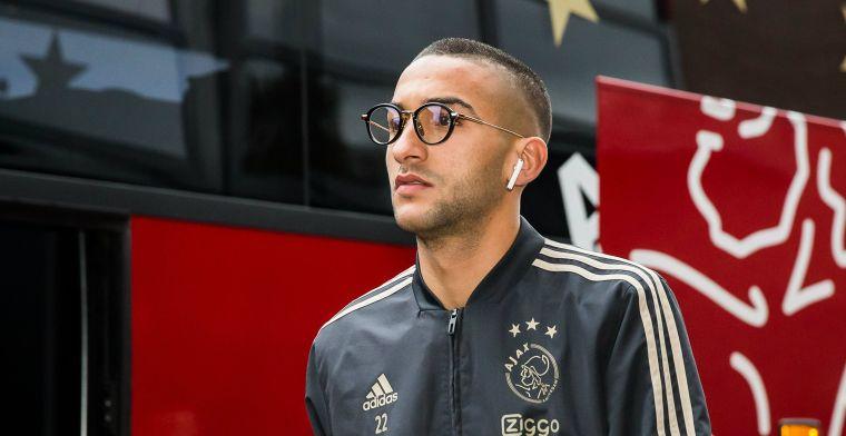 Slecht Ziyech-nieuws bij Ajax: sterspeler mist minimaal twee duels