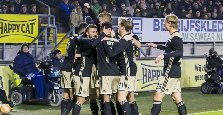 Ajax verkleint afstand tot PSV na zege op NAC: Labyad maakt fraaie goal