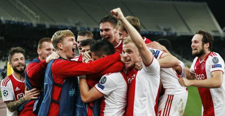 Meer vuurwerk op de tribunes dan op het veld: Ajax houdt hoofd koel en overwintert