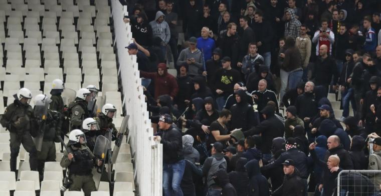 'Ajax-fans raken gewond in Athene door AEK-fans en gewelddadige politie'