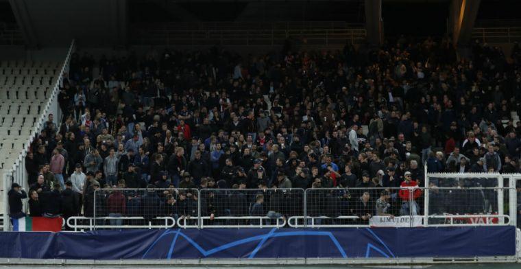 Hommeles in Athene: 'AEK- en Ajax-fans gooien met vuurwerk en molotov-cocktail'
