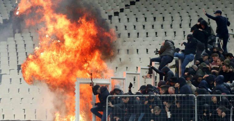 'AEK-supporters kregen vanuit luikje molotovcocktails en stalen pijpen toegereikt'
