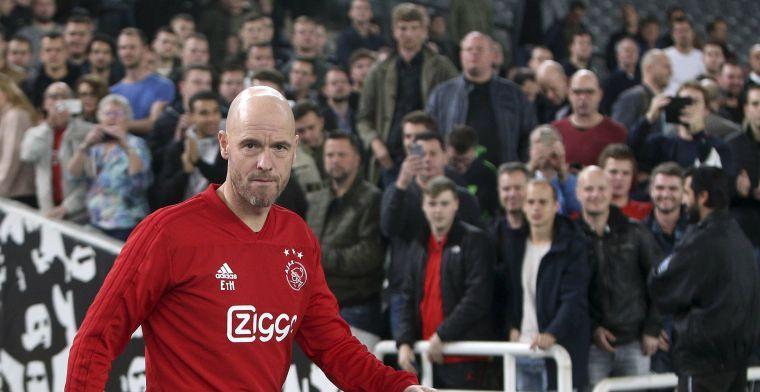 Ten Hag doet oproep aan Ajax-spelers na succes: 'Dit team moet bij elkaar blijven'