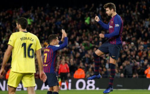 Afbeelding: Piqué bekroont bijzondere week met goal en zege met nieuwe koploper Barcelona