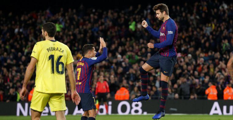 Piqué doet goal in Eindhoven dunnetjes over en helpt Barça aan moeizame zege