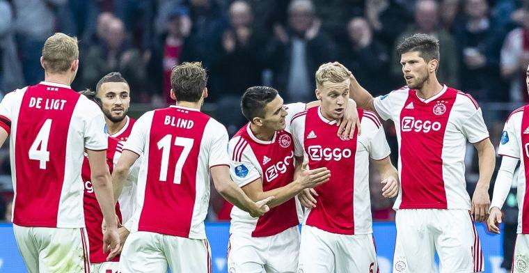 Oppermachtig Ajax laat na om dubbele cijfers te halen tegen kansloos ADO