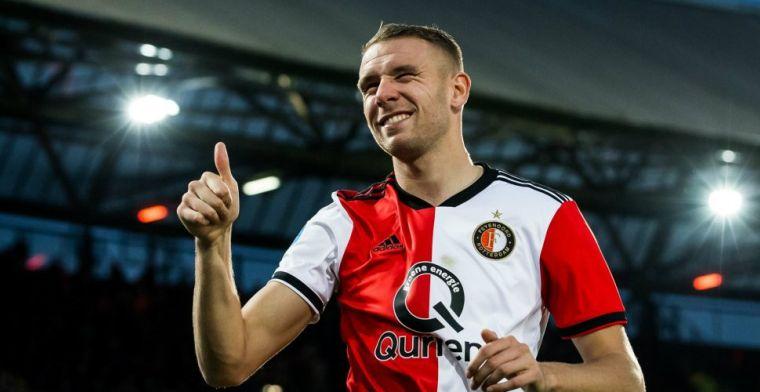 'Ik wil niet te snel afscheid nemen van zo'n grote club als Feyenoord'