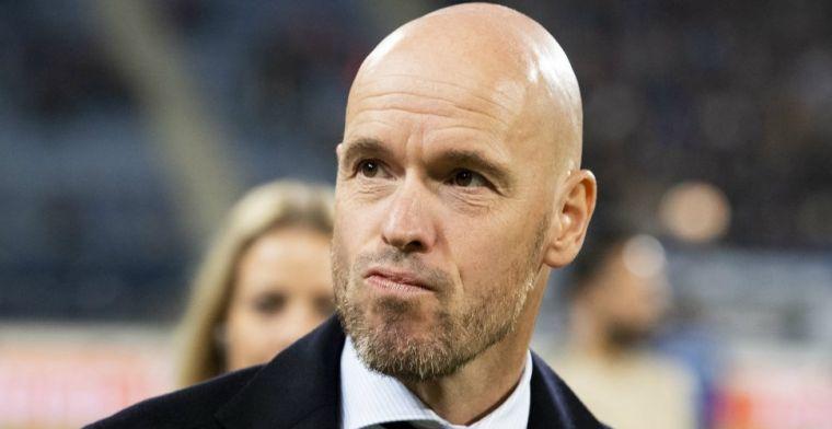 Ten Hag ontkent bij Ajax: 'Hij zit in de emotie en kan dat nog niet weten'