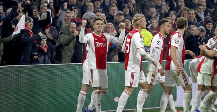 Duitse complimenten voor 'brutaal' Ajax: 'Slim, mooi, maar te weinig impact'