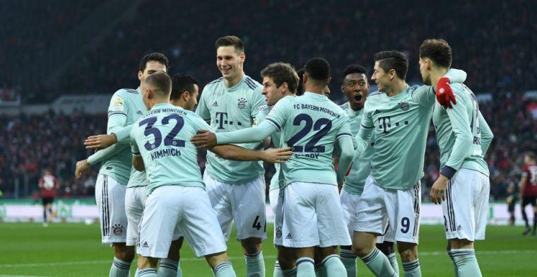 Bayern heeft ideale middag in Hannover, Gladbach morst met de punten