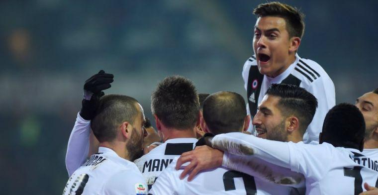 Ronaldo bezorgt Juventus vanaf de stip benauwde derbyzege op Torino