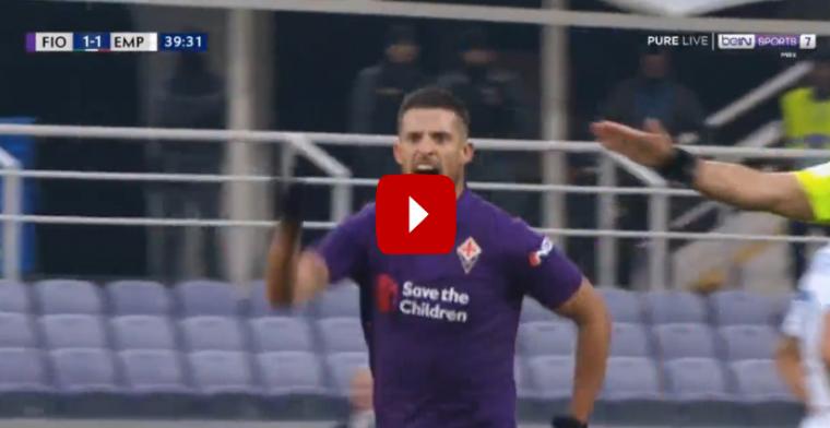 GOAL! Mirallas knalt hem heerlijk in het dak voor Fiorentina