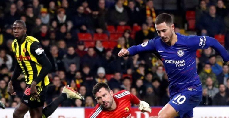 Chelsea springt na twee uur weer over Arsenal heen: prachtig jubileum Hazard