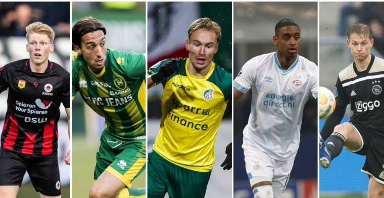 VoetbalPrimeur Elftal van de Eerste Seizoenshelft: middenvelders