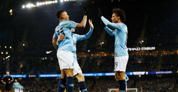 Man City wint met 9-0 in halve finale League Cup en scoort 16 keer in 4 dagen