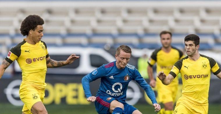 Feyenoord verliest in Marbella: slippertje Van Beek helpt Dortmund op weg