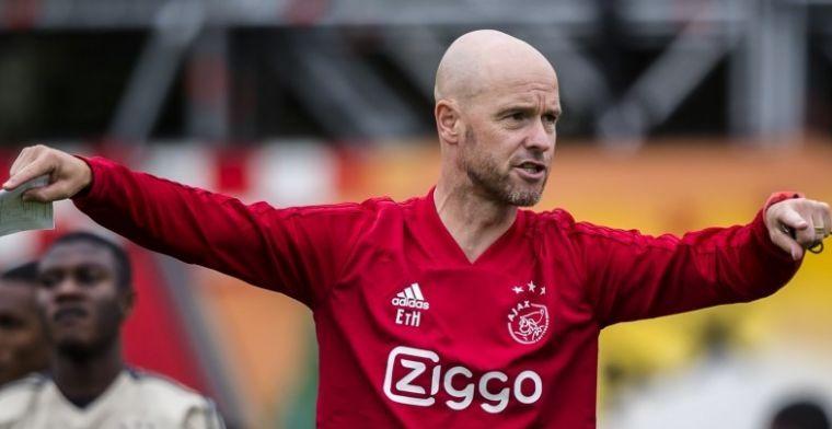 Ten Hag over mogelijk voordeel Ajax in titelstrijd: 'Zou best facet kunnen zijn'