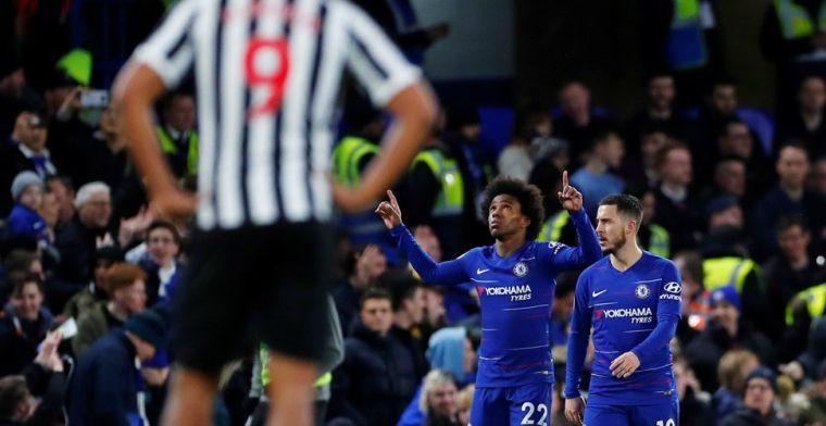 Chelsea zet Arsenal verder op achterstand na moeizame thuiszege op Newcastle