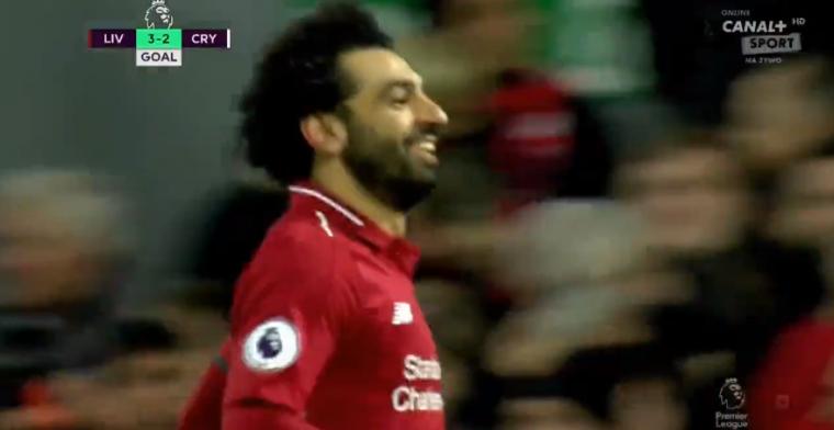 Salah maakt z'n 50e Premier League-goal en lijkt Liverpool te redden