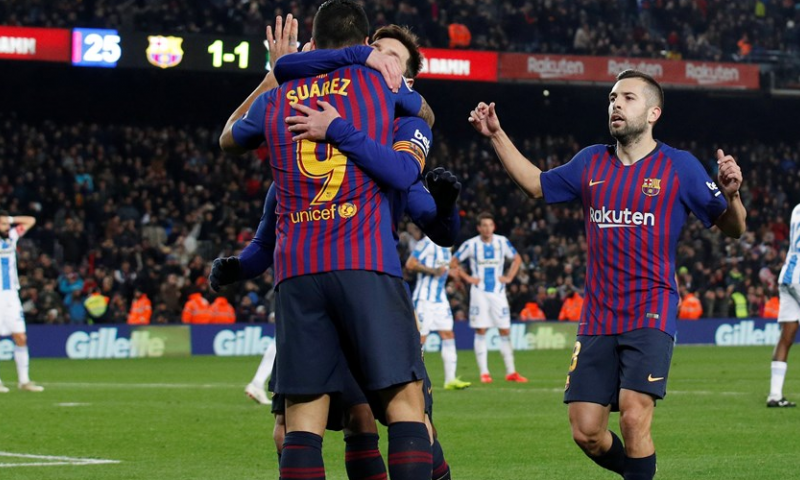 Afbeelding: Invaller Messi zet FC Barcelona op het goede spoor tegen Leganés