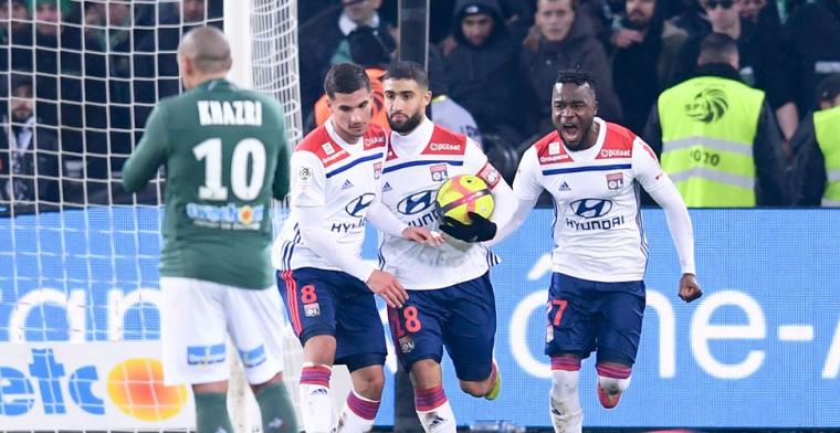 Sensatie: Olympique Lyon wint topper van Saint-Étienne in 95e minuut