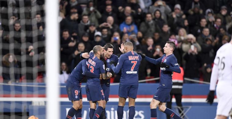 Paris Saint-Germain komt na rust los en wint dankzij Mbappé, Cavani en Di Maria