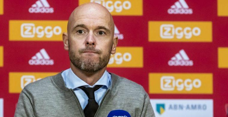 Ten Hag niet verrast: In Amerika ben ook al boos geweest op de Ajax-spelers