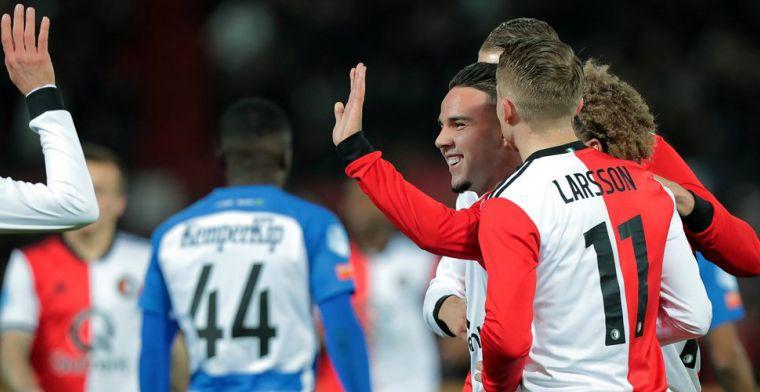 Feyenoord revancheert zich en heeft in de tweede helft geen kind aan De Graafschap