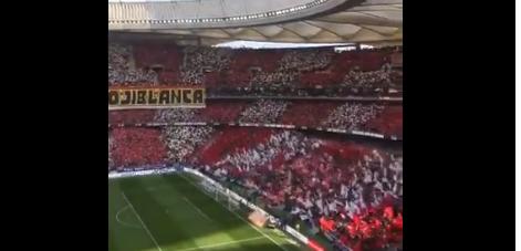 Wat een sfeer, Atlético Madrid-fans beginnen goed aan derby tegen Real Madrid