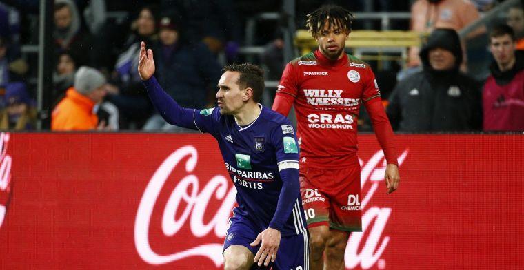 Anderlecht kan niet scoren en doet slechte zaak voor Play-Off 1