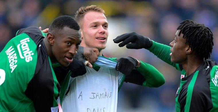 Cercle Brugge maakt gelijk tegen Club Brugge, foto doet nadenken over buitenspel