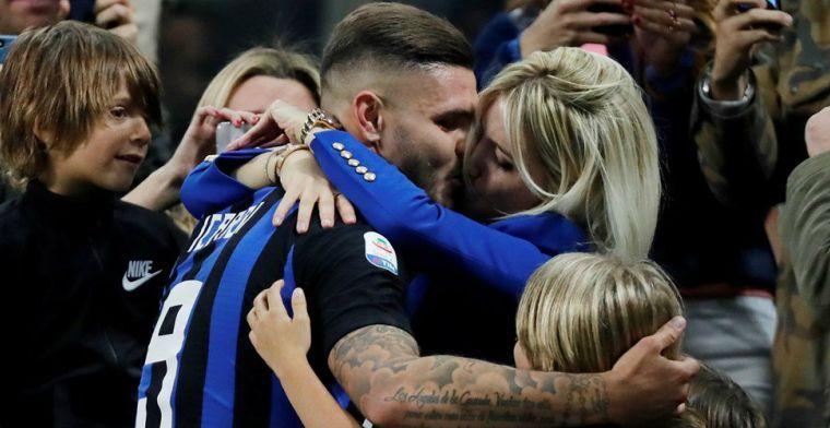 'Bizar incident: boze Inter-fans bekogelen auto van vrouw Icardi met steen'