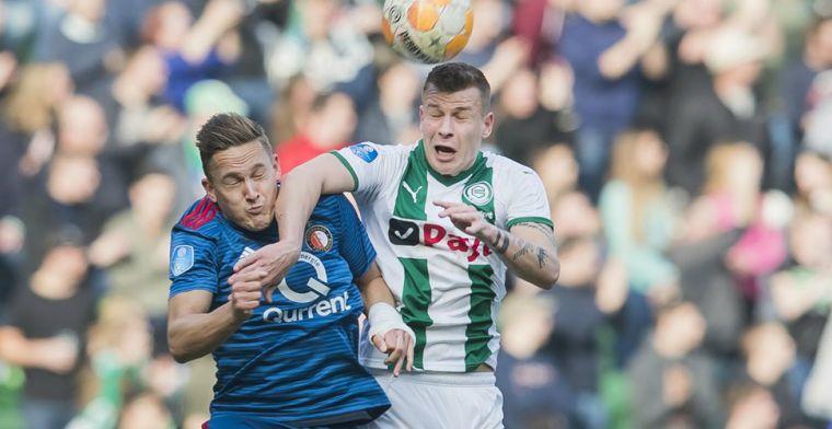 Feyenoord kansloos onderuit in Groningen en legt derde plaats in waagschaal