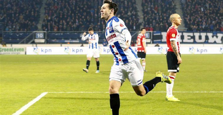 'Scoren is altijd wel lekker, maar tegen koploper PSV is het zeker mooi en fijn'