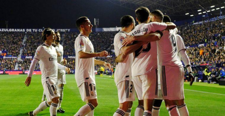 Real Madrid krijgt hulp van VAR, eindigt uitwedstrijd tegen Levante met tien man