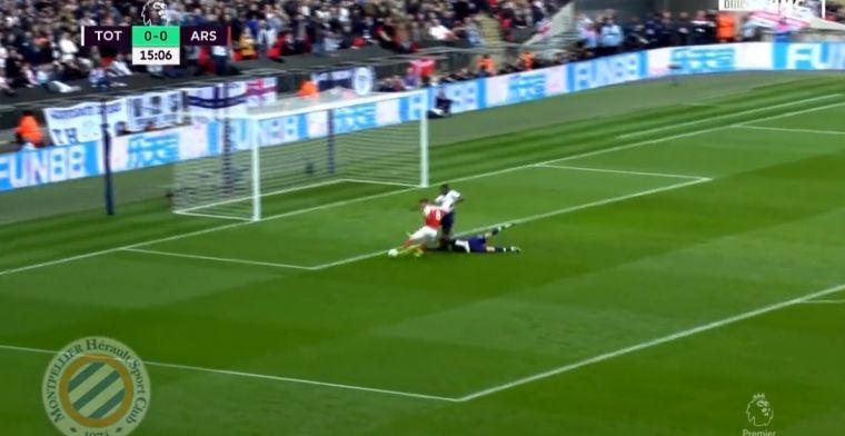 Arsenal leidt op Wembley: Sanchez prutst en Ramsey straft het genadeloos af